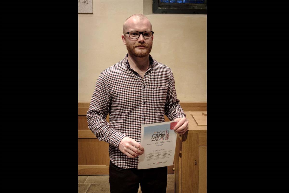 Andrew Blair, winner 19 to 25 years