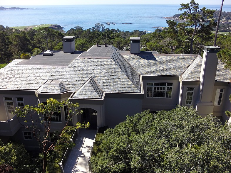 Akers Residence - Multi-colored China SlateRe-roofing