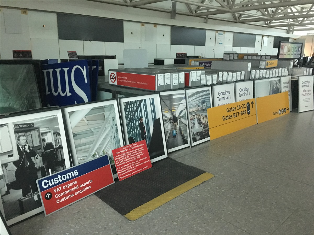 Who doesn't want some old posters or signage from Heathrow T1??