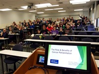 Giving a lecture to PT students at Marquette University