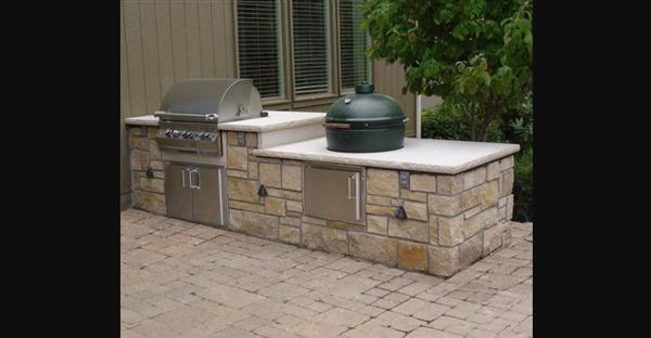 Backyard Patio & Kitchen
