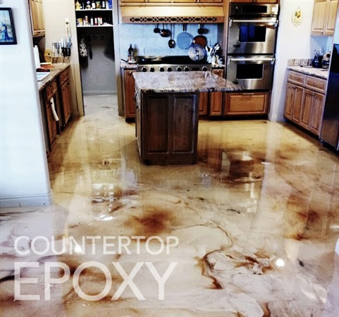refinish your kitchen flooring with high gloss durable epoxy
