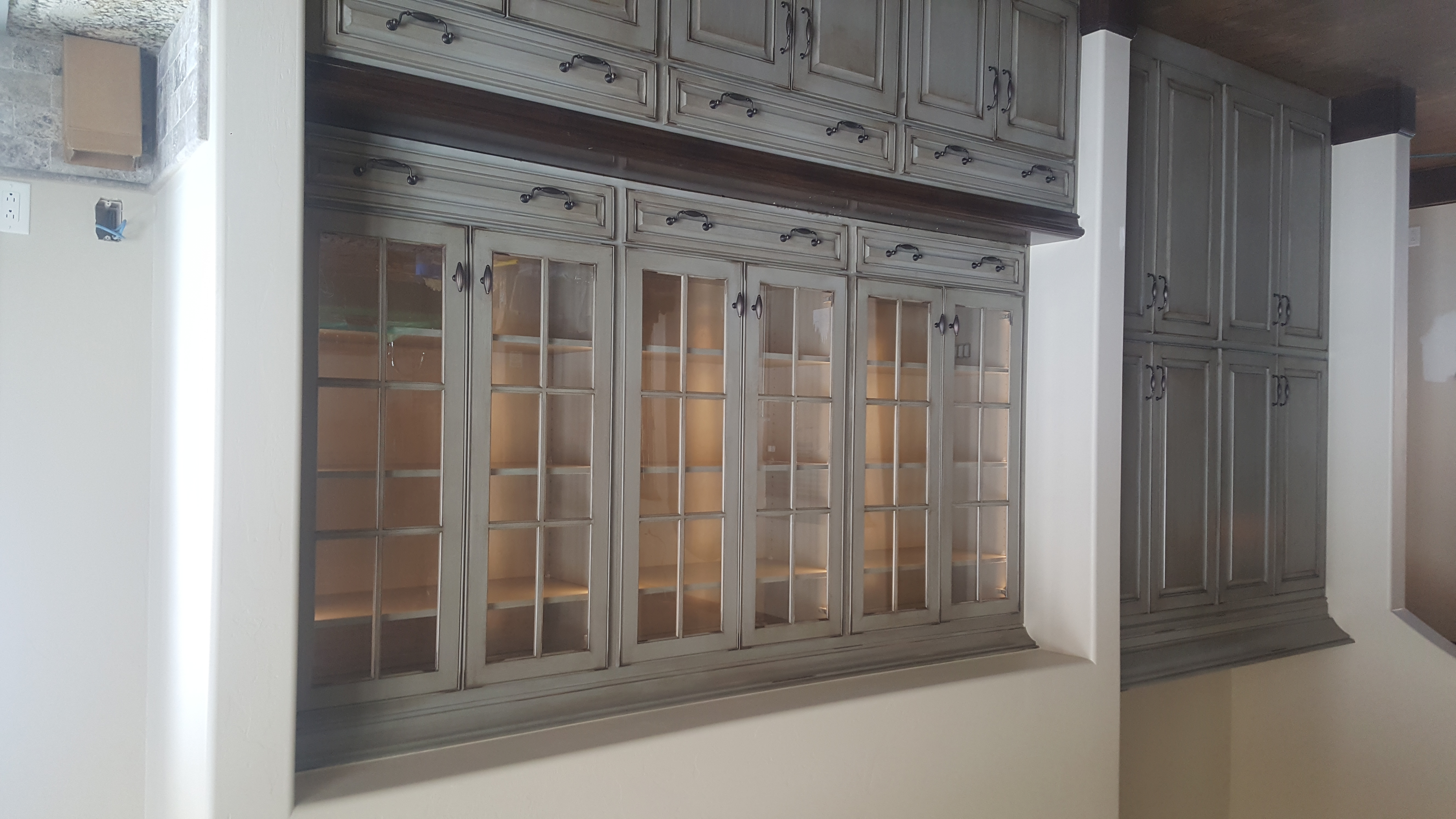 Cabinetry LightingOur customer wanted to light her china cabinet to highlight her china.  Using side light tape means that you can light the cabinet and hide the fixture.