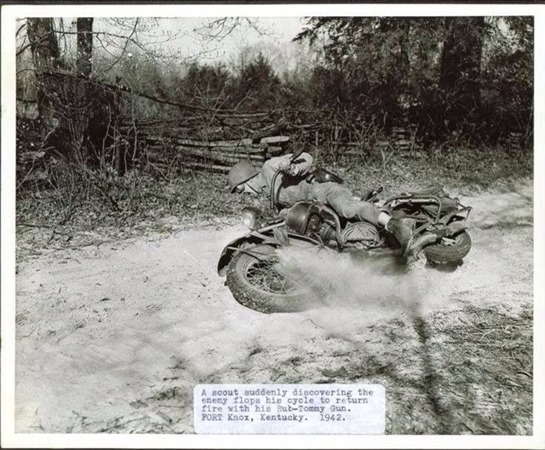 Scout Motorcycle Training - 1942 WWII