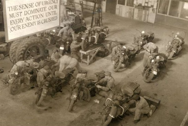 WLA Ordinance Garage - England 1944