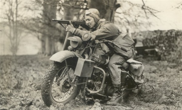 Dispatch Rider in England - 1943