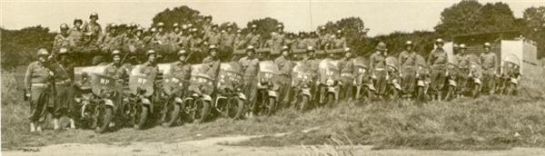 Military Motorcycle Police Unit in Europe - WWII