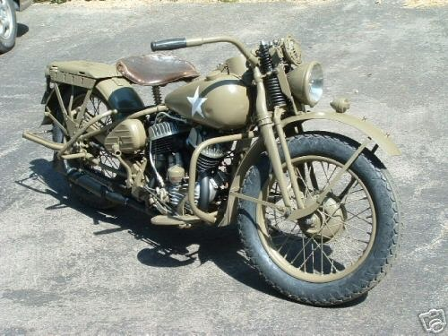 Restored Harley Davidson WLA Military Motorcycle
