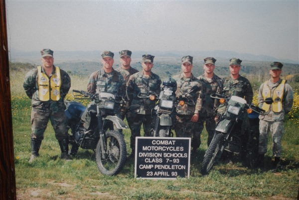 Combat Motorcycles Division Schools in Camp Pendleton - December 1990 - Desert Storm - Vital MX