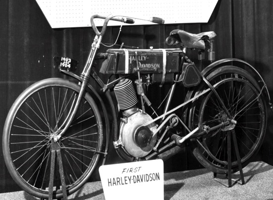 The first ever Harley motorcycle was released to the public in 1903.