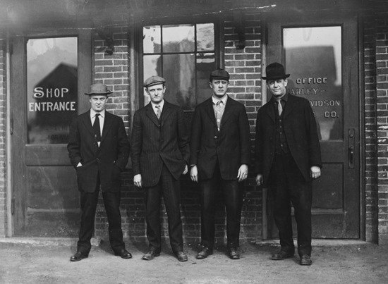 The first full-time employee of Harley-Davidson was hired in 1905.