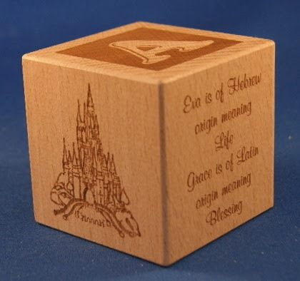 Engraved wooden cubes 24