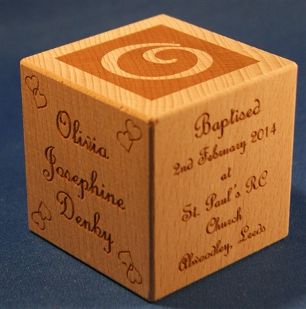 Engraved wooden cubes 49