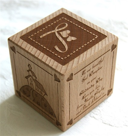 Engraved wooden cubes 53