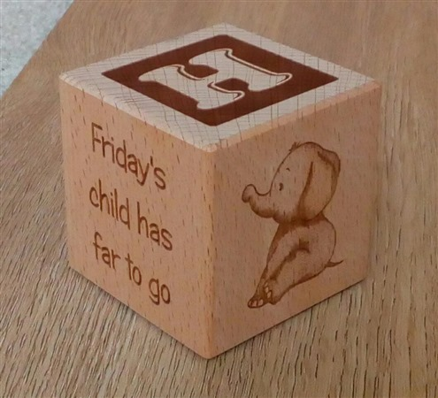 Engraved wooden cubes 67