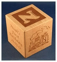Engraved wooden cubes 74