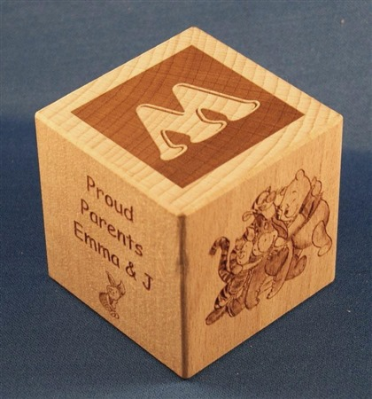 Engraved wooden cubes 75