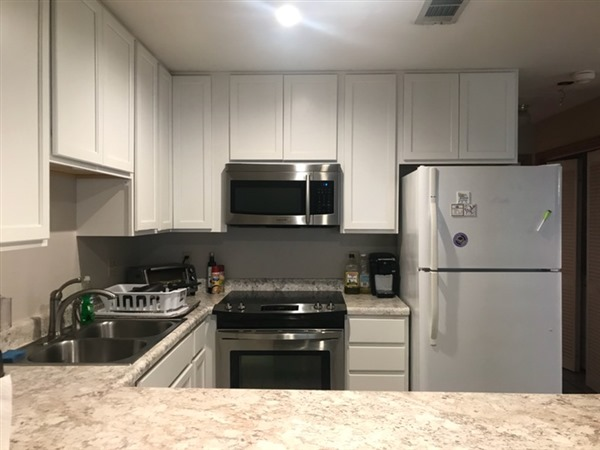 Stainless built in microwave and stove