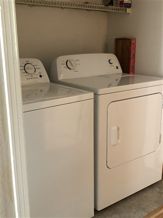 Each townhome at Indian Village has a full sized washer and dryer