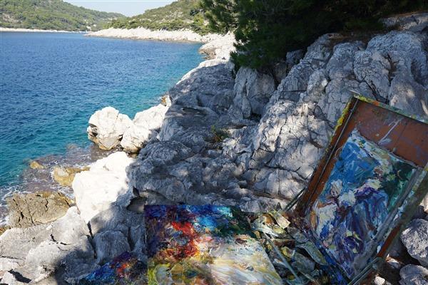 Small Seascape (Croatia) (G) 14x8 2019    DSC09395