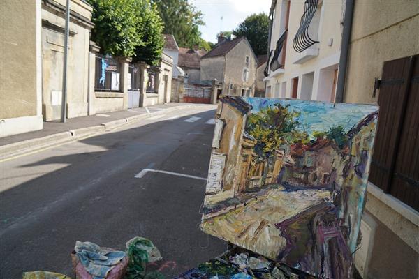 A street in Burgundy   27 1 2 x 27 1 2  2020   DSC02242