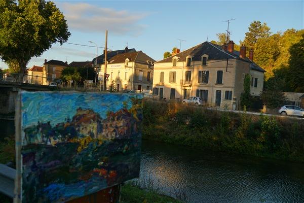 Last light    By the Armançon canal  17 3 4 x 26    2020   DSC02215