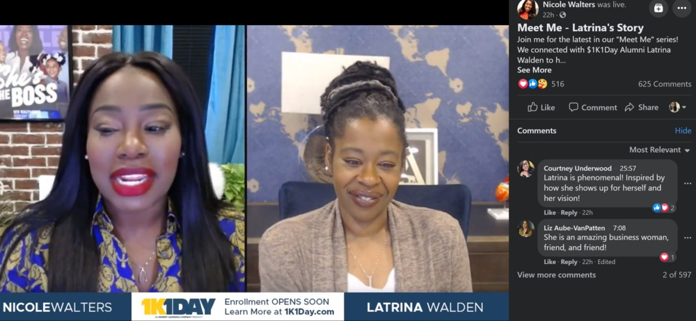 Latrina's Story Interview with Mentor Nicole Walters