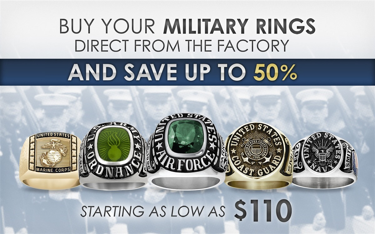 military graduation school college high personalized rings class