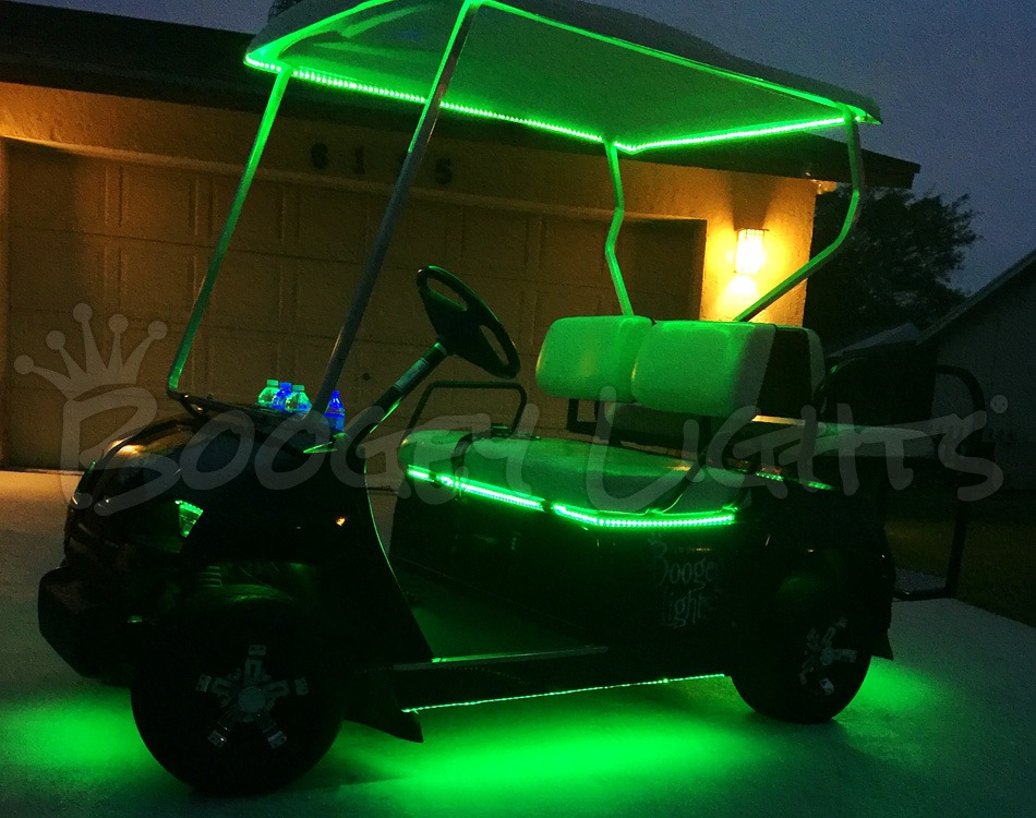 Golf Cart Canopy LED Kit (Multi-Color) - Boogey Lights Roof Golf Cart Light Kit on golf cart light kits, golf cart trunk kits, golf cart dashboard kits, golf cart horn kits, golf cart frame kits, golf cart building kits, golf cart dump bed kits, golf cart windshield kits, golf cart carpet kits, golf cart speedometer kits, golf cart garage kits, golf cart speaker kits, golf cart dash kits, golf cart seat belt kits, golf cart canopy kits,