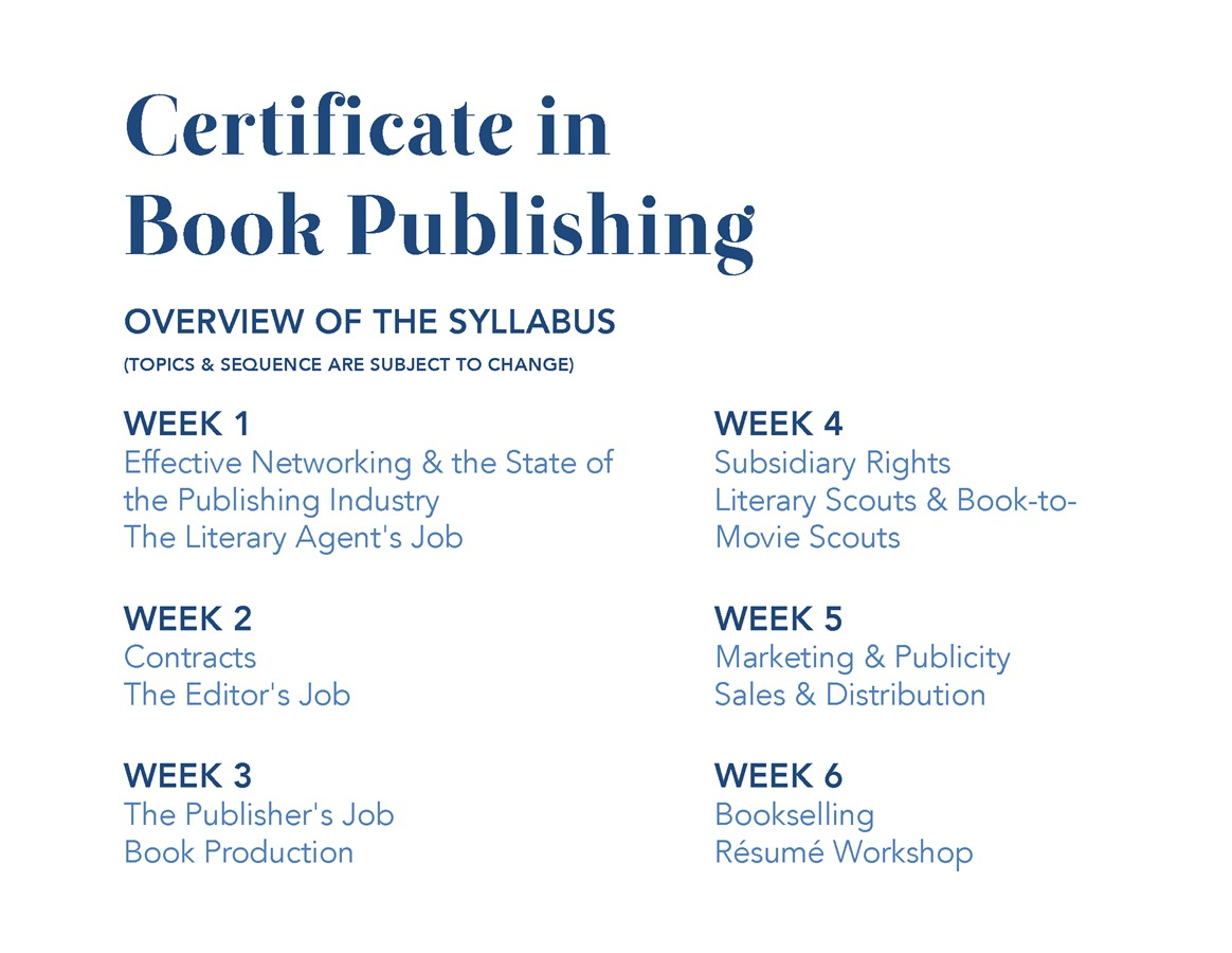 certificate in book publishing sarah lawrence college