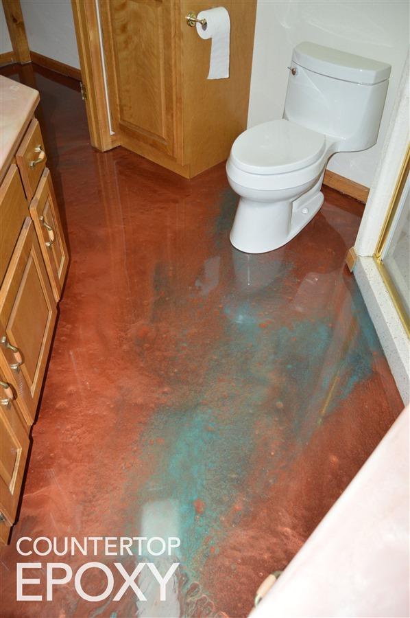refinish your kitchen flooring with high gloss durable epoxy rh countertopepoxy com epoxy bathroom floor cost epoxy bathroom floor malaysia