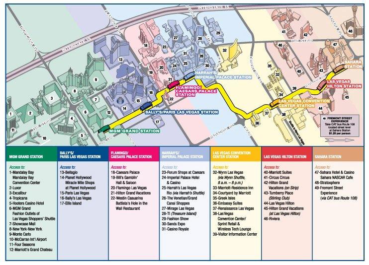 Four Seasons Las Vegas Map.Las Vegas Monorail Information