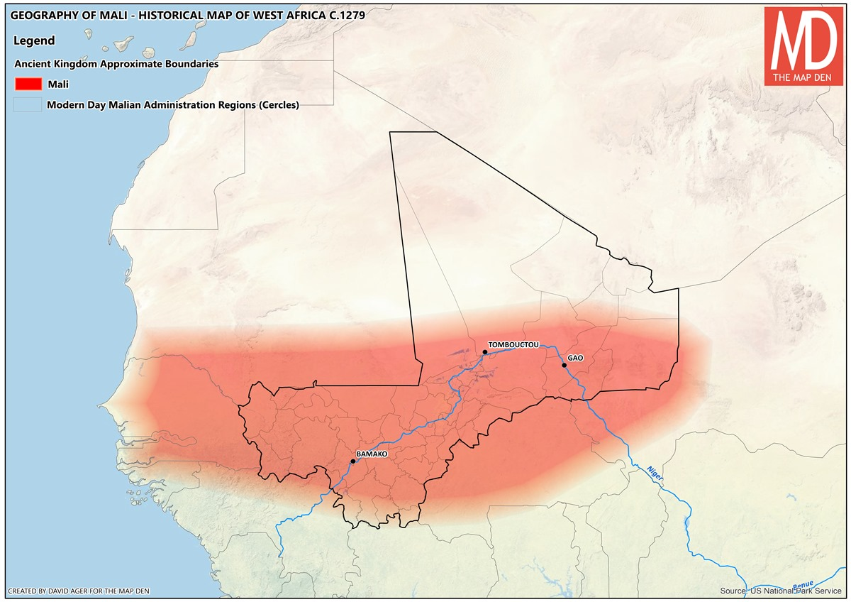 MapNation - Mali - Frontier Country - The Map Den