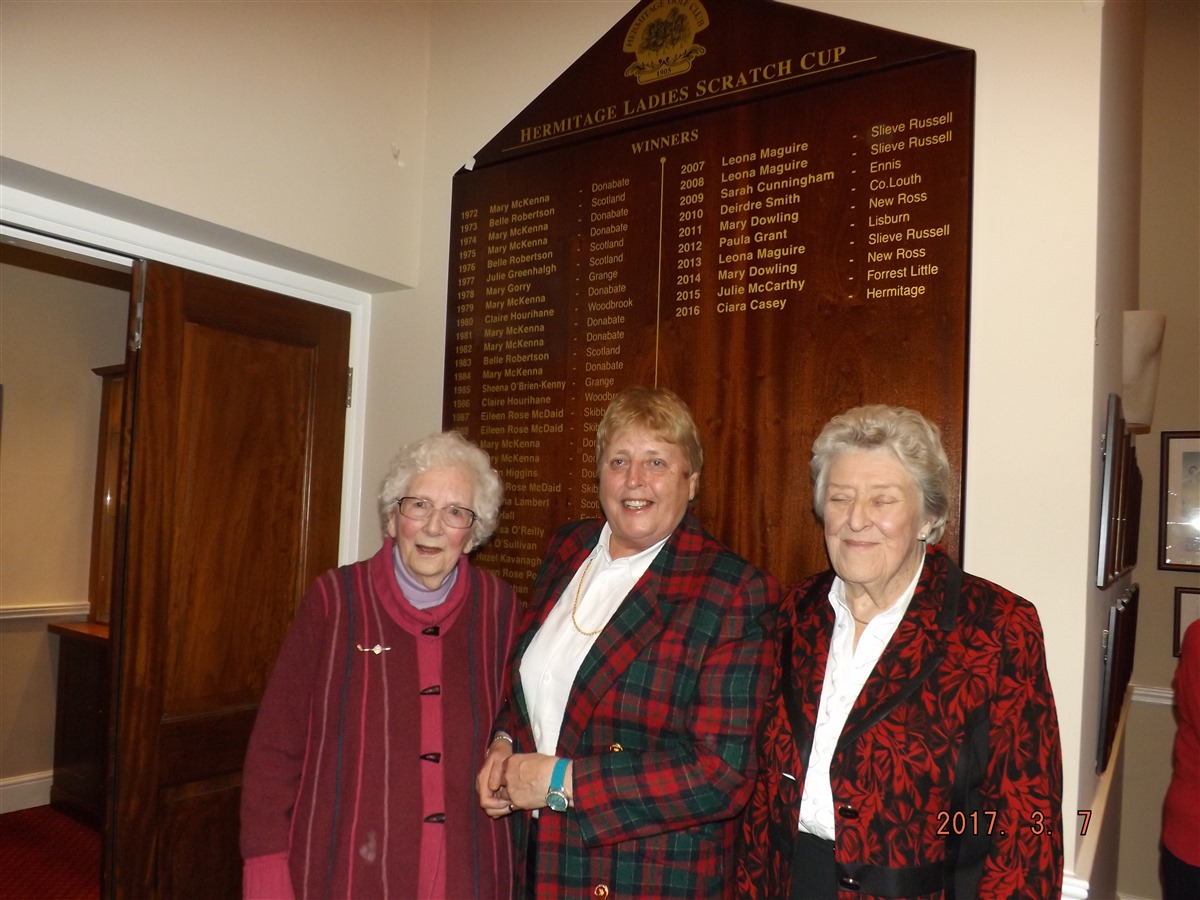 Unveiling of Scratch Cup Winners Board : Hermitage Golf Club